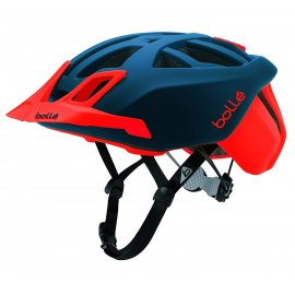 Bollé - The One MTB  - Mountainbike Helm -  LED-Licht - Navy/Red