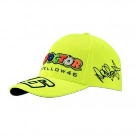 VR|46 Valentino Rossi Baseball Cap – The Doctor – Vale Yellow 46 - neon gelb