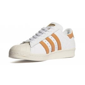 ADIDAS - Superstar 80s - Low-Top-Sneakers - BB2229 - White/Gold